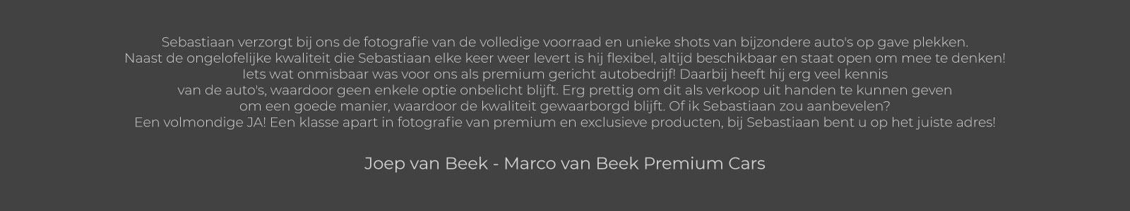 Joep van Beek - Marco van Beek Premium Cars