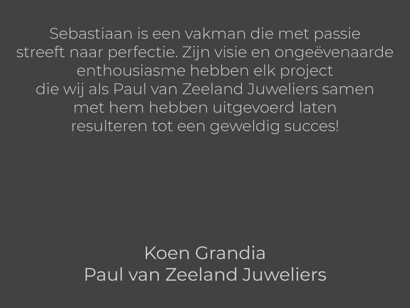 Koen Grandia - Paul van Zeeland Juweliers