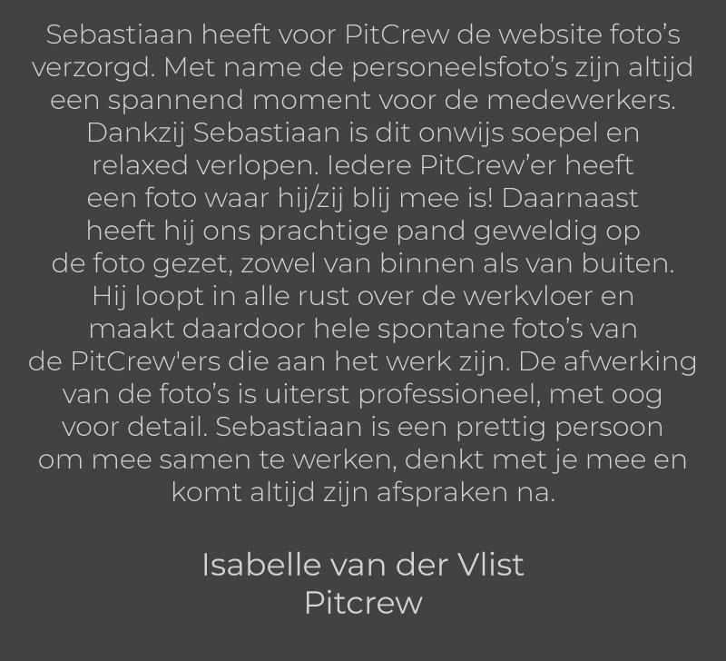 Isabelle van der Vlist - Pitcrew